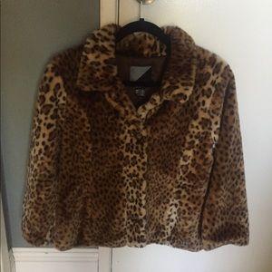 Volcom Cheetah faux-fur jacket